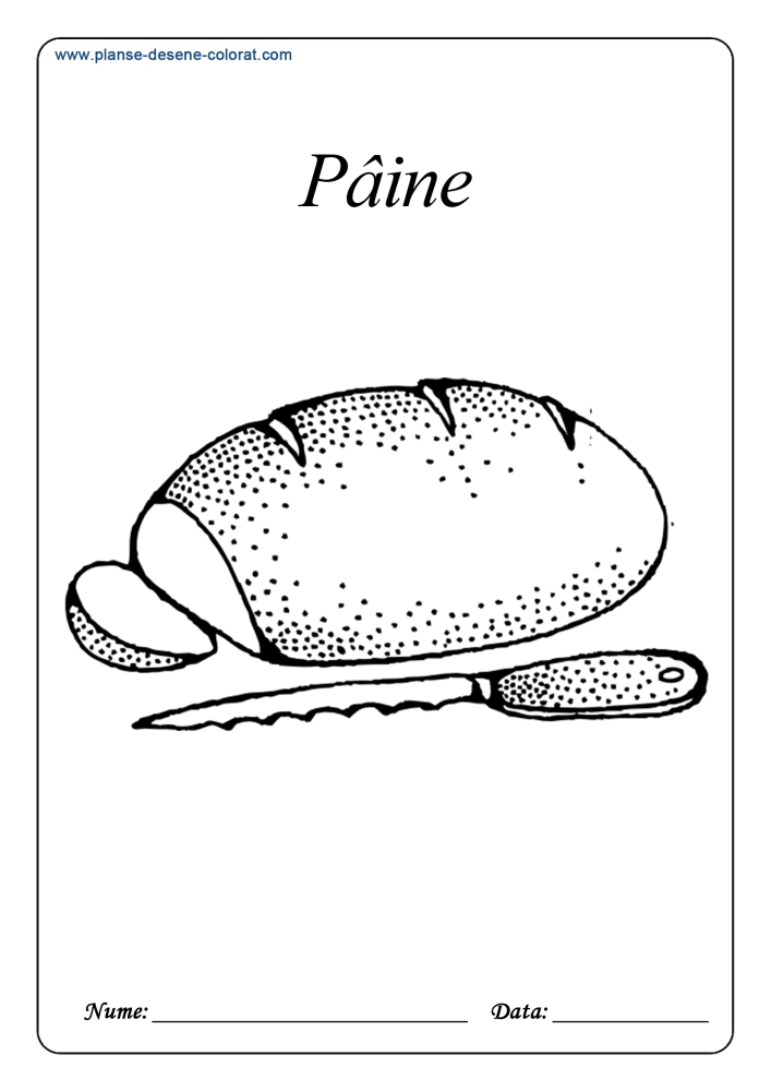Planse De Colorat Cu Alimente Paine