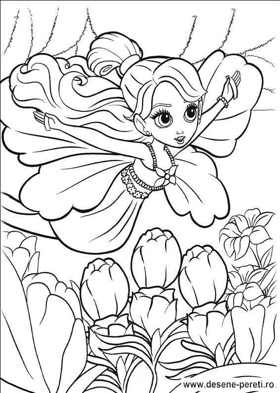 Barbie Zana Padurii Desene De Printat Si Colorat Pentru Copii