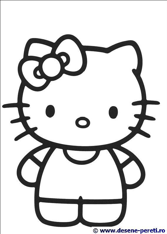 Hello Kitty Desene De Printat Si Colorat Pentru Copii