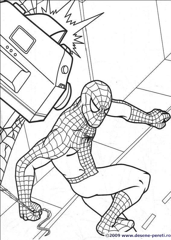 Spiderman Omul Paianjen Desene De Printat Si Colorat